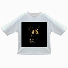 Beautiful Bird In Gold And Black Infant/toddler T-shirts