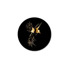 Beautiful Bird In Gold And Black Golf Ball Marker