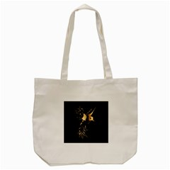 Beautiful Bird In Gold And Black Tote Bag (cream)