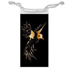 Beautiful Bird In Gold And Black Jewelry Bags