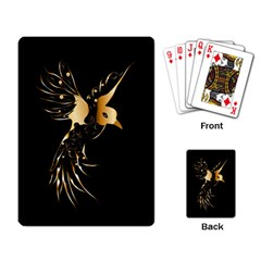 Beautiful Bird In Gold And Black Playing Card