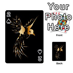 Beautiful Bird In Gold And Black Playing Cards 54 Designs