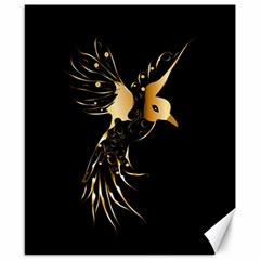 Beautiful Bird In Gold And Black Canvas 8  X 10