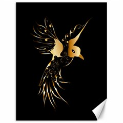 Beautiful Bird In Gold And Black Canvas 12  X 16