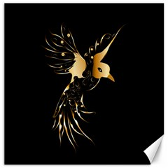 Beautiful Bird In Gold And Black Canvas 16  X 16