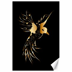 Beautiful Bird In Gold And Black Canvas 20  X 30