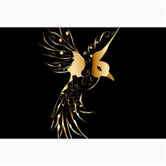 Beautiful Bird In Gold And Black Canvas 24  X 36