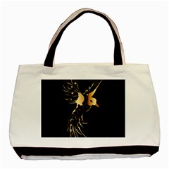 Beautiful Bird In Gold And Black Basic Tote Bag (two Sides)