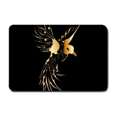Beautiful Bird In Gold And Black Small Doormat