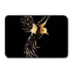 Beautiful Bird In Gold And Black Plate Mats