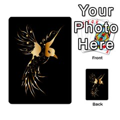 Beautiful Bird In Gold And Black Multi Purpose Cards (rectangle)