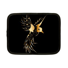 Beautiful Bird In Gold And Black Netbook Case (small)