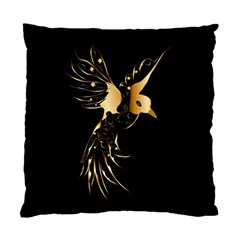 Beautiful Bird In Gold And Black Standard Cushion Case (one Side)