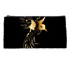 Beautiful Bird In Gold And Black Pencil Cases