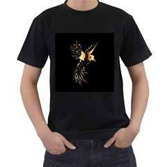 Beautiful Bird In Gold And Black Men s T Shirt (black)