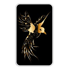 Beautiful Bird In Gold And Black Memory Card Reader