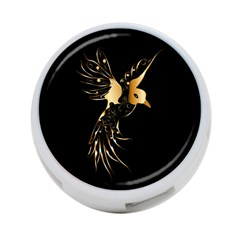 Beautiful Bird In Gold And Black 4 Port Usb Hub (two Sides)