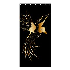 Beautiful Bird In Gold And Black Shower Curtain 36  X 72  (stall)