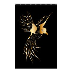 Beautiful Bird In Gold And Black Shower Curtain 48  X 72  (small)