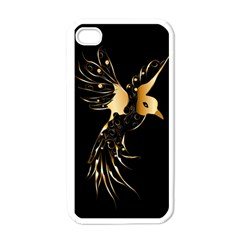 Beautiful Bird In Gold And Black Apple Iphone 4 Case (white)
