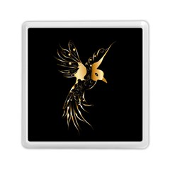 Beautiful Bird In Gold And Black Memory Card Reader (square)
