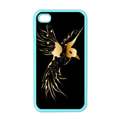 Beautiful Bird In Gold And Black Apple Iphone 4 Case (color)