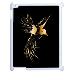 Beautiful Bird In Gold And Black Apple Ipad 2 Case (white)
