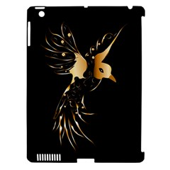 Beautiful Bird In Gold And Black Apple Ipad 3/4 Hardshell Case (compatible With Smart Cover)