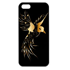 Beautiful Bird In Gold And Black Apple Iphone 5 Seamless Case (black)