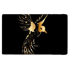 Beautiful Bird In Gold And Black Apple Ipad 3/4 Flip Case