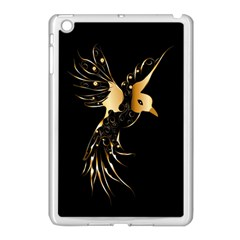 Beautiful Bird In Gold And Black Apple Ipad Mini Case (white)
