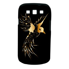 Beautiful Bird In Gold And Black Samsung Galaxy S Iii Classic Hardshell Case (pc+silicone)