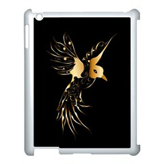 Beautiful Bird In Gold And Black Apple Ipad 3/4 Case (white)