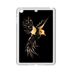Beautiful Bird In Gold And Black Ipad Mini 2 Enamel Coated Cases