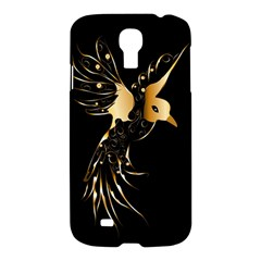 Beautiful Bird In Gold And Black Samsung Galaxy S4 I9500/i9505 Hardshell Case