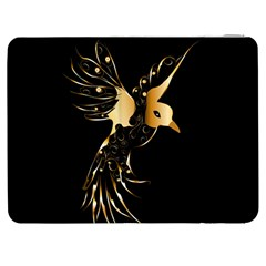 Beautiful Bird In Gold And Black Samsung Galaxy Tab 7  P1000 Flip Case