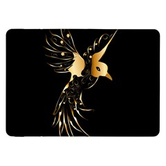 Beautiful Bird In Gold And Black Samsung Galaxy Tab 8 9  P7300 Flip Case