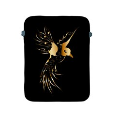Beautiful Bird In Gold And Black Apple Ipad 2/3/4 Protective Soft Cases