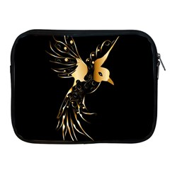 Beautiful Bird In Gold And Black Apple Ipad 2/3/4 Zipper Cases