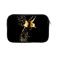Beautiful Bird In Gold And Black Apple Ipad Mini Zipper Cases