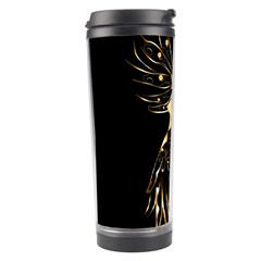 Beautiful Bird In Gold And Black Travel Tumblers