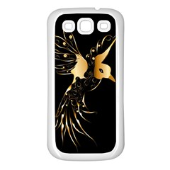 Beautiful Bird In Gold And Black Samsung Galaxy S3 Back Case (white) by FantasyWorld7