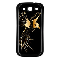 Beautiful Bird In Gold And Black Samsung Galaxy S3 Back Case (black)