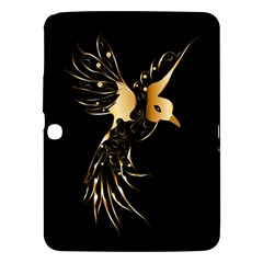 Beautiful Bird In Gold And Black Samsung Galaxy Tab 3 (10 1 ) P5200 Hardshell Case