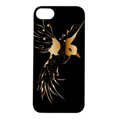 Beautiful Bird In Gold And Black Apple Iphone 5s Hardshell Case