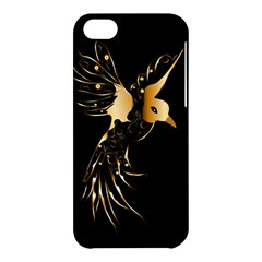 Beautiful Bird In Gold And Black Apple Iphone 5c Hardshell Case