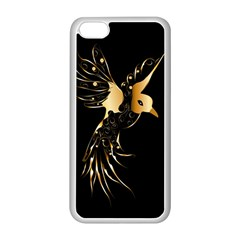 Beautiful Bird In Gold And Black Apple Iphone 5c Seamless Case (white)