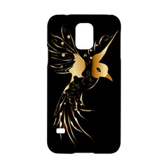 Beautiful Bird In Gold And Black Samsung Galaxy S5 Hardshell Case