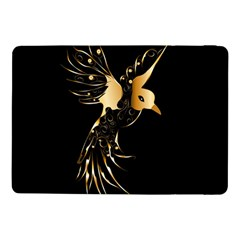 Beautiful Bird In Gold And Black Samsung Galaxy Tab Pro 10 1  Flip Case