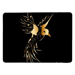 Beautiful Bird In Gold And Black Samsung Galaxy Tab Pro 12 2  Flip Case